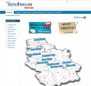 pocetna strana www.smestajubanji.com