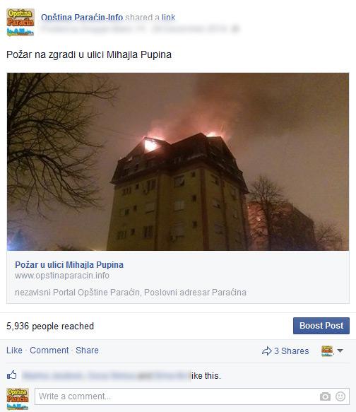 doseg na facebook opstinaparacin